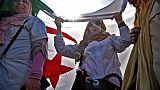 Des enseignantes manifestent dans le centre d'Alger, le 13 mars 2019