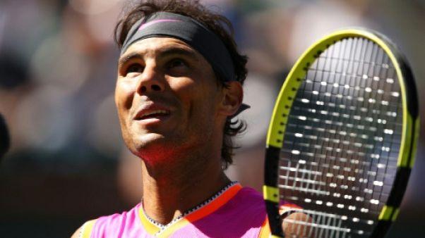 Tennis: Nadal fonce en quarts de finale à Indian Wells