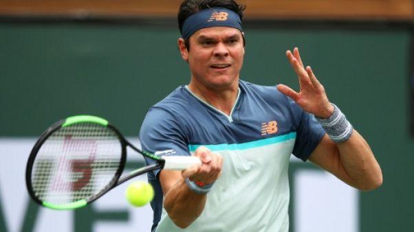 Tennis: Raonic fidèle au rendez-vous des quarts à Indian Wells