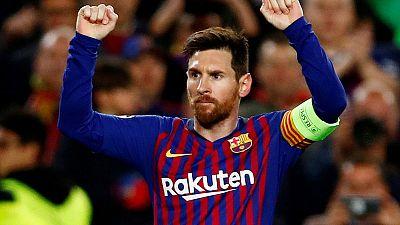 Relentless Messi leads demolition of Lyon to take Barca through