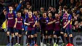 ميسي يقود برشلونة لسحق ليون بخماسية والتأهل لدور الثمانية