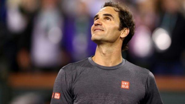 Tennis: Federer expéditif et qualifié pour les quarts à Indian Wells