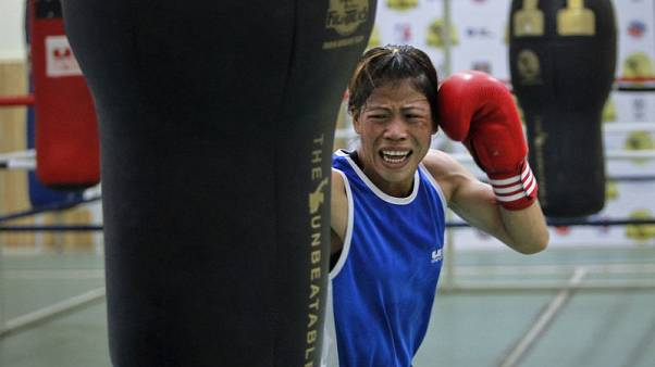 Boxing - Yearning for Olympic gold, 'Magnificent Mary' keeps punching