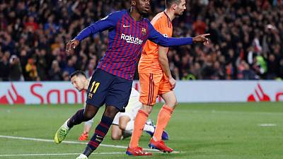 Barcelona rule injured Dembele out for up to four weeks