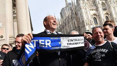 Tifosi Eintracht in corteo a Milano