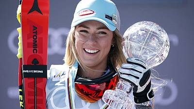 Skiing - Dominant Shiffrin adds super-G World Cup title to collection