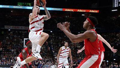 Basket:Eurolega,Milano-Olympiacos 66-57