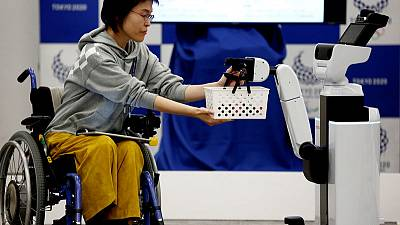 Tokyo 2020 unveils robots to help wheelchair users, workers