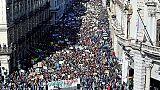 Migliaia giovani in corteo per il clima