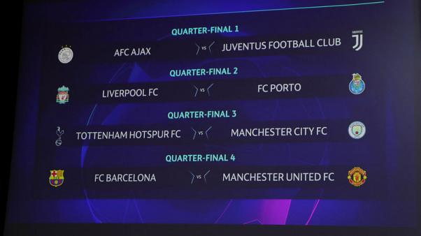Man Utd to face Messi again in Champions League quarter-finals