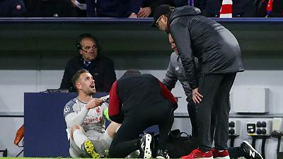 Liverpool's Henderson out of Fulham clash with ankle injury