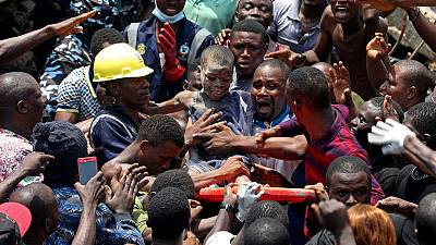 Nigeria school building collapse killed 20 people - Lagos health official