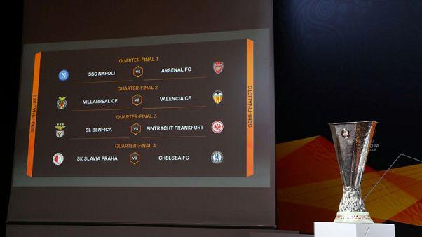 Napoli face Arsenal, outsiders Slavia meet Chelsea