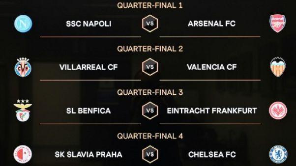 Ligue Europa: Naples-Arsenal à l'affiche, tirage clément pour Chelsea