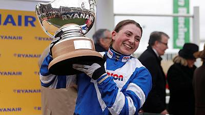 Horse racing - Women jockeys make their mark at Cheltenham