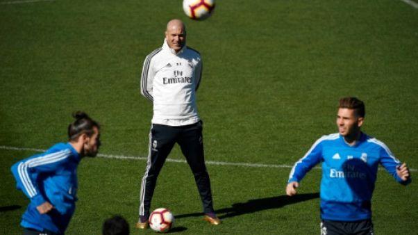 """Espagne: Zidane """"excité"""" de retrouver son Real et son Bernabeu"""