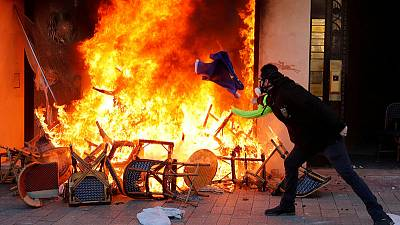 French violence flares as yellow vest protests enter fourth month
