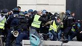 أعمال عنف في احتجاجات السترات الصفراء في فرنسا مع دخولها الشهر الرابع