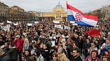 الآلاف في كرواتيا يحتجون على العنف الأسري