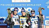 Ski de fond: Klaebo domine le sprint de Falun et s'échappe au général