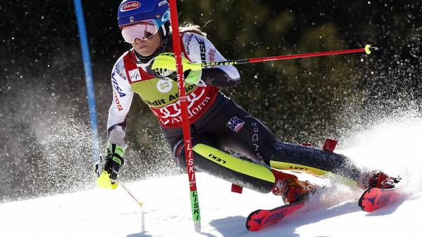 Shiffrin wins slalom event for 16th World Cup win of season