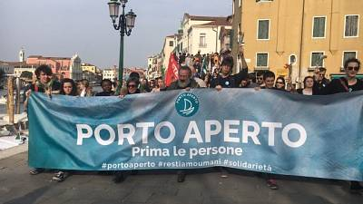 Venezia,in 3mila a corteo 'Porto Aperto'