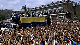 """Venezuela: en tournée nationale, Guaido veut marcher """"jusqu'à la présidence"""""""