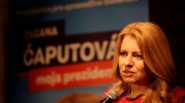 Anti-graft campaigner Caputova leads Slovak presidential election first round