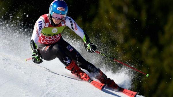 Ski alpin: Shiffrin assomme la concurrence dans la 1re manche du géant de Soldeu