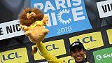 Le Colombien Egan Bernal vailnqueur de Paris Nice le 17 mars 2019