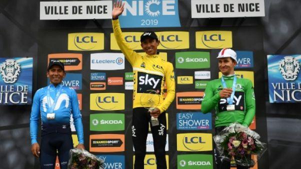 """Paris-Nice: Bernal, le futur """"grand"""", s'impose à son aîné Quintana"""