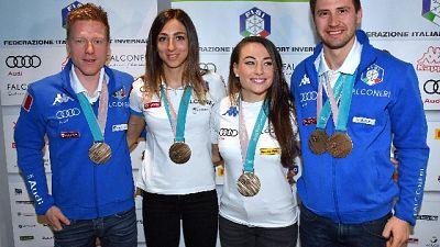 Mondiali biathlon:medagliere, Italia 3/a