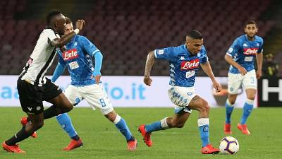 Serie A: Napoli-Udinese 4-2