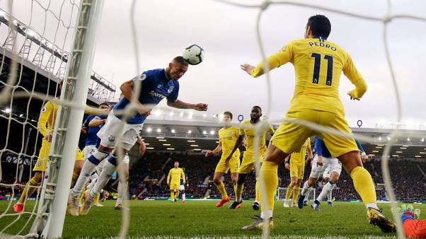 Everton sink Chelsea 2-0 to upset their top-four plans