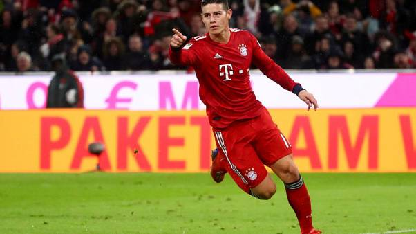 Rodriguez treble helps Bayern retain top spot with Mainz rout