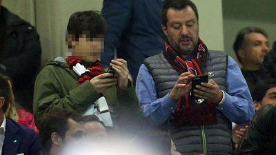 Salvini a San Siro per Milan-Inter
