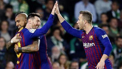 Tris Messi, Barcellona batte 4-1 Betis