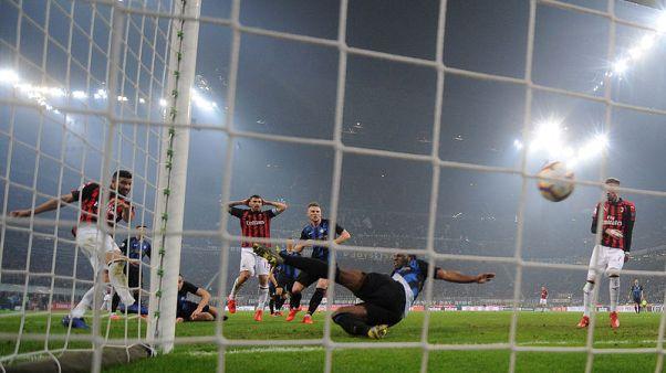 Inter edge Milan in five-goal derby thriller to go third