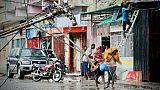 Une rue de Beira le 17 mars 2019, au lendemain du passage du cyclone Idai