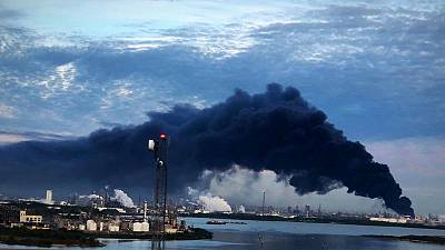 Texas petrochemical storage fire rages, may burn for two days