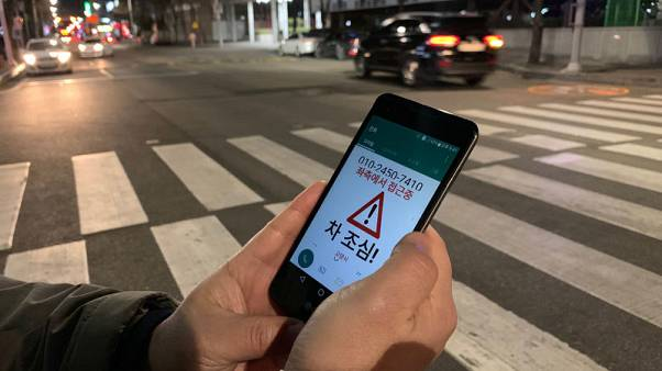 South Korea radar and thermal camera system warns 'smartphone zombies' of traffic