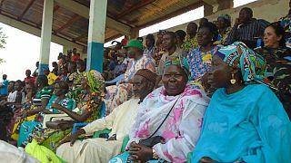 Journée Internationale de la Femme, JIF2019 à Bangassou, les femmes bénéficiaires du programme de Réduction de la Violence Communautaire (CVR) étaient aussi de la partie