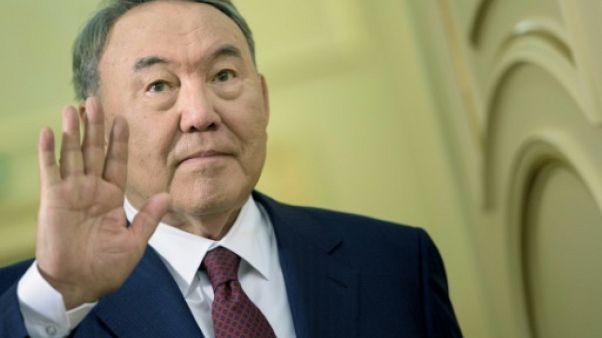 Le président kazakh Noursoultan Nazarbaïev, le 2 novembre 2015 à Astana