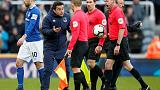 Everton's Silva fined for confronting officials in defeat at Newcastle