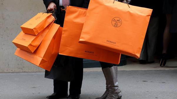 Bag maker Hermes sees no changes to sales trend as profits rise