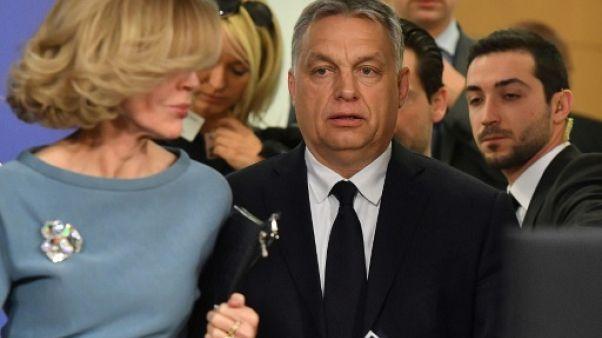Le Premier ministre hongrois Viktor Orban à Bruxelles le 20 mars 2019