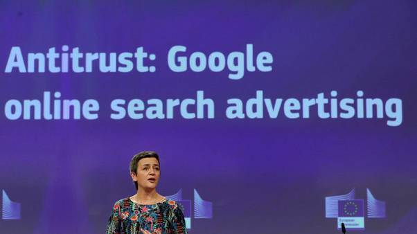 Google fined $1.7 billion for search ad blocks in third EU sanction
