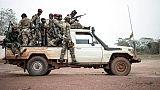 Des miliciens de l'UPC à Bokolobo, près de Bambari, le 16 mars 2019