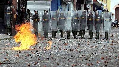 U.N. rights boss decries Venezuela crackdown; says sanctions may worsen crisis