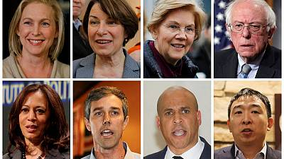 In early campaigning, 2020 Democrats try out tactics for taking on Trump